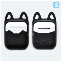 cat ears silicone case for airpods charging box