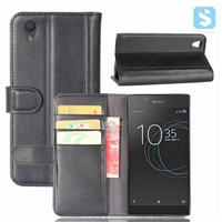 Genuine Leather Wallet Case for SONY Xperia L1