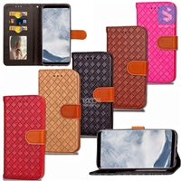 Braided PU Leather Wallet Case for SAMSUNG Galaxy S8 Plus