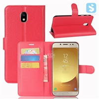 Litchi PU Leather Wallet Case for SAMSUNG Galaxy J7 (2017) / J7 POP