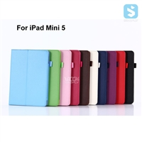 Litchi PU Leather Case for iPad Mini 5
