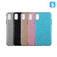 Bling PU TPU Back Cover for iPhone X