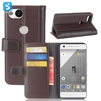 Genuine Leather Wallet Case for GOOGLE Pixel 2