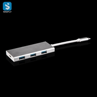 Type C to 3 USB 3.0 Port & Card Reader Port & HDMI