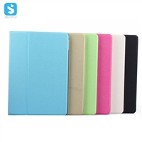 TPU Diamond Pattern PU Leather Rotation Stand Case for iPad Air 2