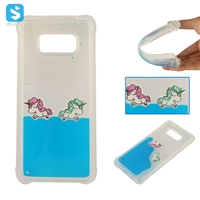 TPU Horse Pattern Floating Liquid Case for Samsung Galaxy s8
