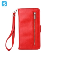 Zipper PU Leather Wallet Case for Samsung Galaxy S8