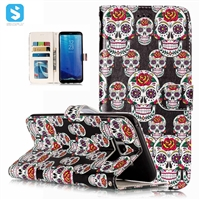 Printed PU Leather Wallet Case for Samsung Galaxy S8 Plus