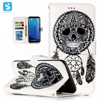 Printed PU Leather Wallet Case for Samsung Galaxy S8