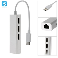 3-Port USB 3.1 Portable Data Hub with 1 Gbps Ethernet Port Network Adapter