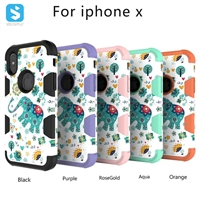 3in1 PC TPU Silicon Case for iPhone X