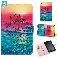 Printed PU Leather Wallet Case for Amazon Fire 7