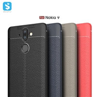 Litchi Pattern TPU Case for Nokia 9