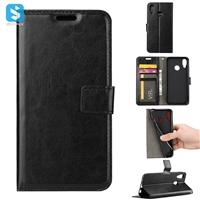 Crazy Horse PU Leather Wallet Case for Huawei P20 Lite