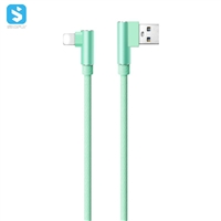 Twin elbow braided cable Usb for iPhone