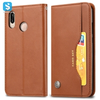 PU leather wallet phone case for Huawei P20 Lite