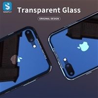 TPU + tempered glass back cover for iPhone 7 8 Plus