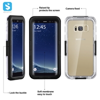 Clear waterproof case for Samsung Galaxy S8
