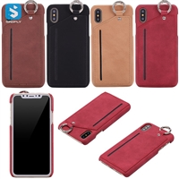 leather case with hook for iPhone X(S)