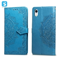 Embossed series PU leather phone case for iPhone XR