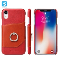 cow leather back cover for iPhone XR