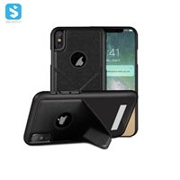 Spray paint + super fiber inside + outer folding bracket PC protective case for iPhone XS MAX
