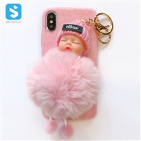 TPU plush toy(baby) phone case for iPhone X(S)