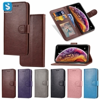 Solid color leather case for iPhone XS MAX