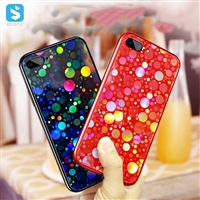 Tempered glass mobile phone case for iPhone 7/8