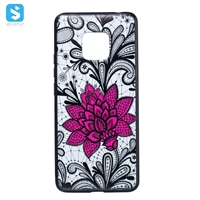 TPU PC 2 in 1 emboss phone case for Huawei Mate 20 Pro