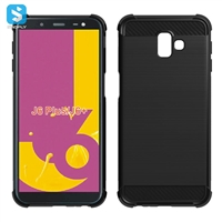 Carbon Fiber shockproof TPU phone case for Samsung Galaxy J6 Plus