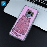 White Matte liquid emboss PC phone case for Samsung Galaxy S9