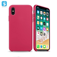 liquid silicone PC phone case for iPhone XR