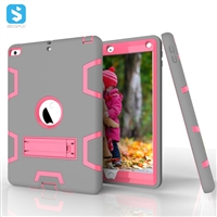 silicone PC with stand case for iPad 9.7 2017/2018