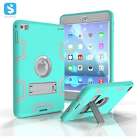 silicone PC with stand case for iPad Mini 4