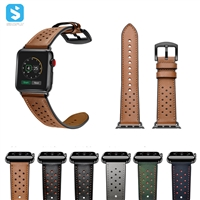 hole style cowhide watchband for Apple watch 1 2 3