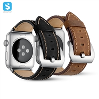 crazy horse real leather watchband for Apple watch
