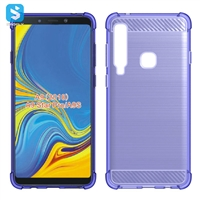 Carbon Fiber TPU phone case for Samsung A9 Star Pro(2018)