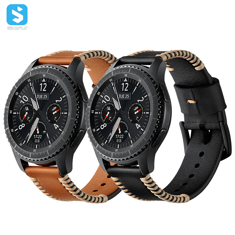 Genuine leather watchband for Samsung Gear S3
