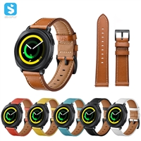 Genuine leather watchband for Samsung Gear S4