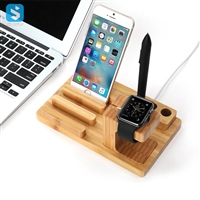 phone and watch wood stand