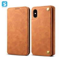 ultra-thin wallet PU leather for iPhone X(S)