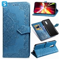 mandala emboss TPU PU leather case for Huawei Mate 20 Lite