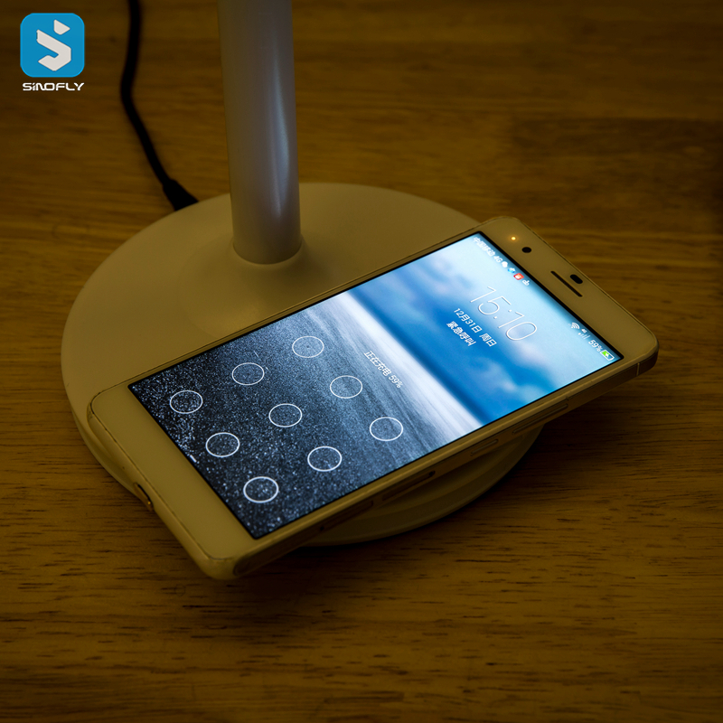 light with wireless charger