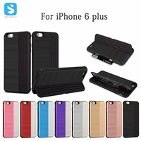 2 in 1 TPU PC phone case with stand for iPhone 6(S) plus