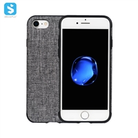 full cover cloth grain phone case for iphone 7