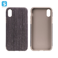 TPU wood phone case for iphone XS (full cover)