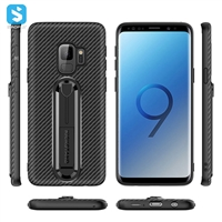 Carbon Fiber TPU phone case with stand for Samsung Galaxy S9