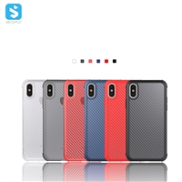Carbon fiber flameproof TPU phone case for iphone XS