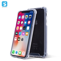 Acrylic four corners shockproof TPU phone case for iPhone X(S)